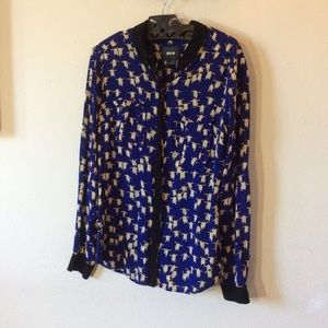 Anthropologie Tops - 🐧 MAEVE Anthropologie Penguin Button Up Blouse